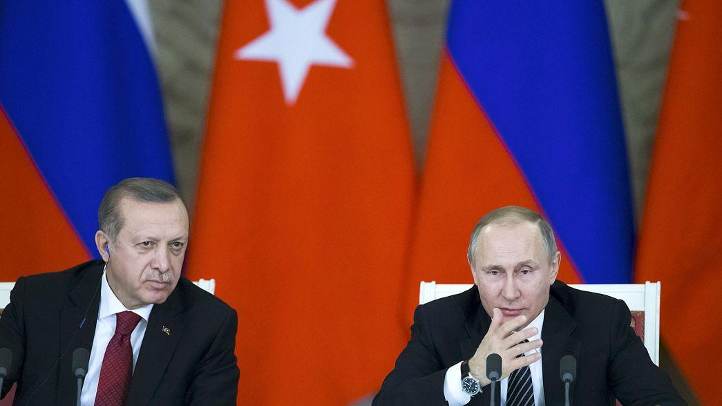 Terrorisme, énergie et culture au menu des entretiens Poutine-Erdogan