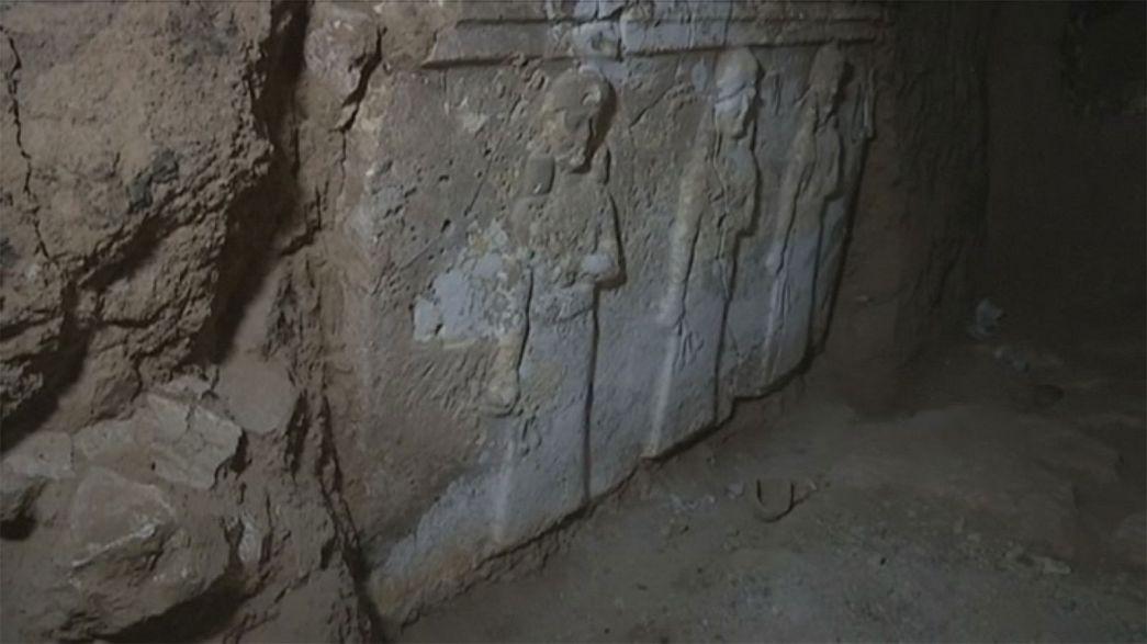 Palácio assírio em Mossul revela métodos de pilhagem do EI