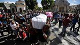 Funerais das vítimas do albergue guatemalteco para jovens