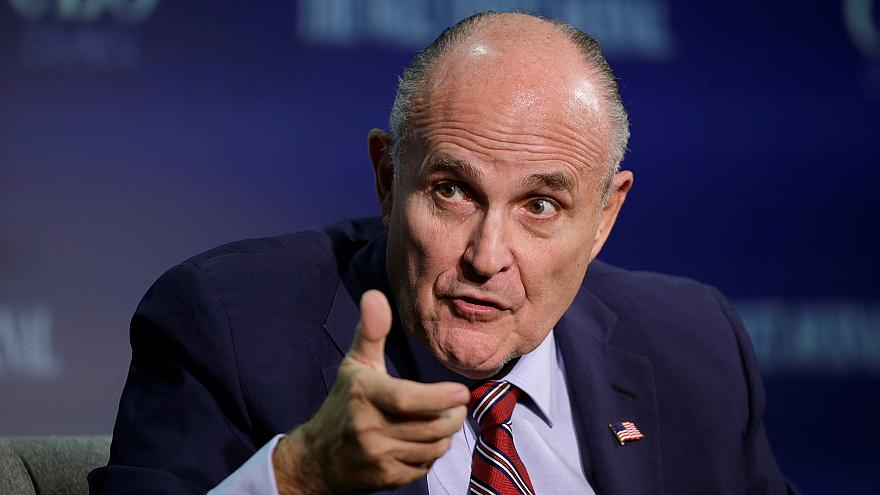 Rudy Giuliani, vice chairman of the Trump Presidential Transition Team, spe