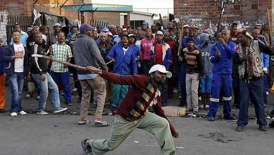 Xenophobic protest in Pretoria, South Africa [no comment]