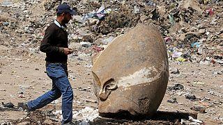العثور على تمثال في القاهرة، يحتمل أنه تمثال رمسيس