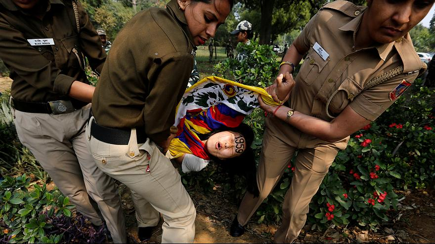 Pro-Tibet protest in India