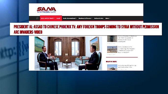 الأسد يصف القوات الأمريكية بالغزاة لأنهم لم يطلبوا الإذن منه، كما غيرهم.