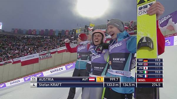 El equipo de saltos de esquí austríaco gana en Oslo