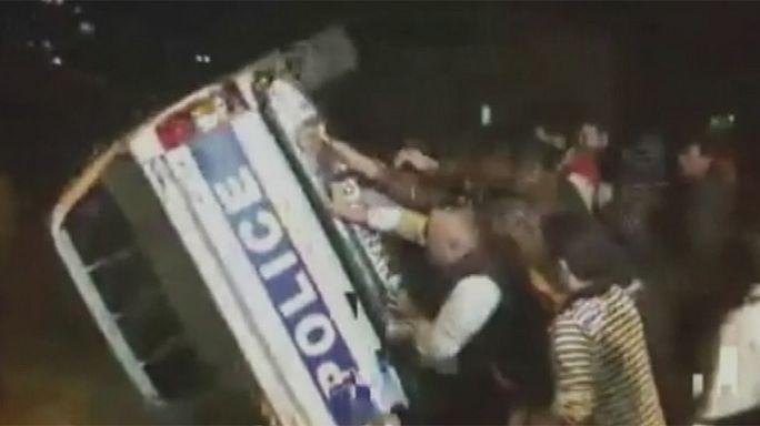 Demonstration turns violent in Georgia