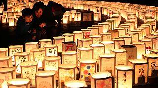 Япония вспоминает жертв землетрясения 2011 года