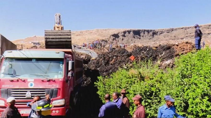 Etiópia: Deslizamento de terras em lixeira faz 46 mortos