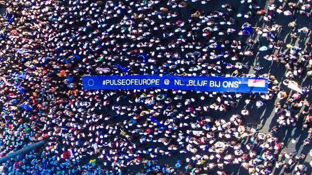 Manifestaciones en defensa de la UE en Berlín y otras ciudades europeas