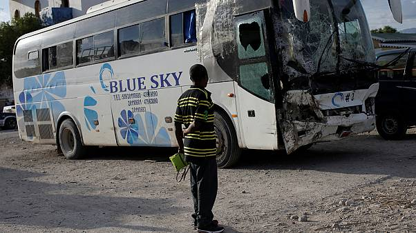 Bus driver ploughs into parade in Haiti