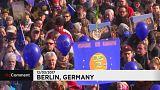 گردهمایی آلمانی ها در حمایت از اتحادیه اروپا