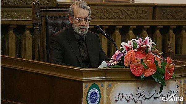 رئیس مجلس ایران: رفیق آقای روحانی هستم ولی در انتخابات بنای دخالت ندارم