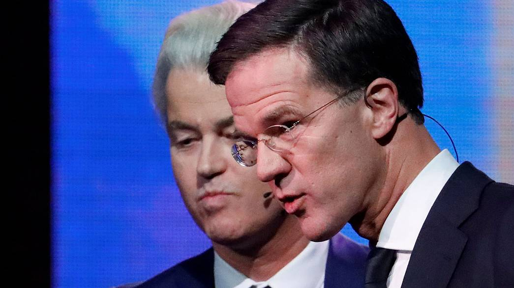 Dutch election: PM Rutte and far-right rival Wilders face off in feisty TV debate