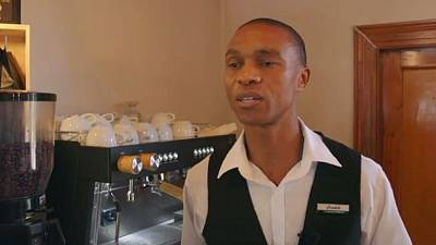 Meet Joseph Matheatau, South Africa's first qualified blind barista