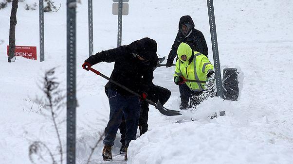 Washington y Nueva York, cubiertas de nieve