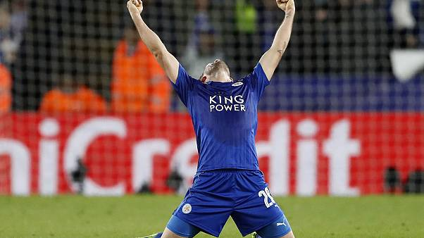 Leicester City continue Champions League fairytale debut by reaching quarter-finals