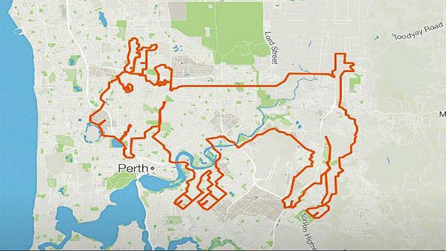 Cyclists use GPS app to create art