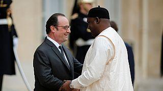 Le président gambien Adama Barrow en visite en France