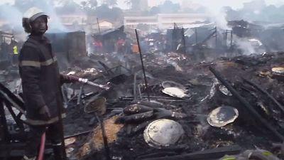Cameroun : le marché de Bamenda incendié