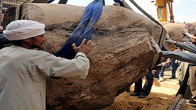 Egypt archaeological experts prepare to transport colossus of Ramses II