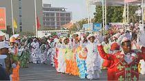 Angolans celebrate annual carnival despite financial crisis