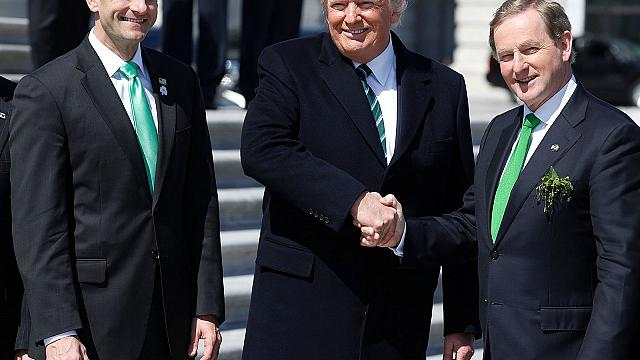 San Patricio reúne en Washington a Enda Kenny y Donald Trump
