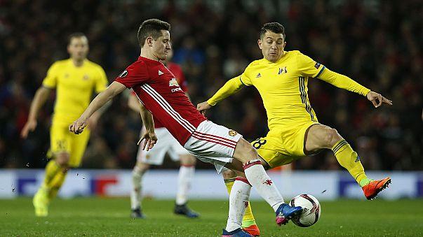 Europa League: il Lione elimina le Roma, Manchester Utd avanti a fatica