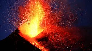 Mount Etna explodes showering BBC crew with rocks and magma