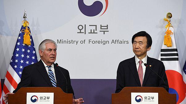 وزیر امور خارجه آمریکا در دیدار از کره جنوبی: صبوری در برابر کره شمالی جوابگو نیست