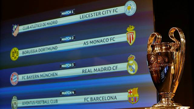 Find out who will play who in the Champions League Quarter-finals