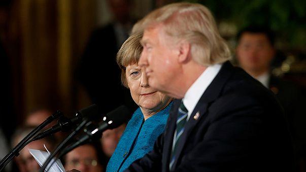 ابراز امیدواری مرکل و ترامپ به آینده روابط تجاری دو جانبه