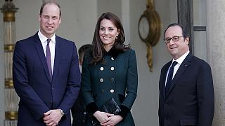 Príncipe William e Kate Middleton em Paris com François Hollande