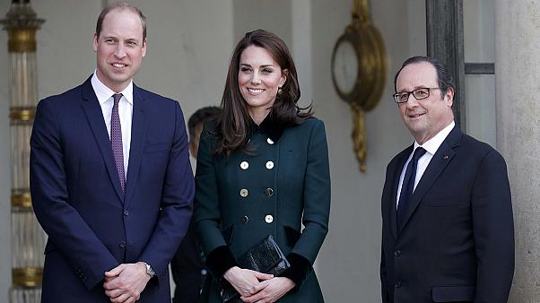 Prens William ve Kate Middleton Paris'te.