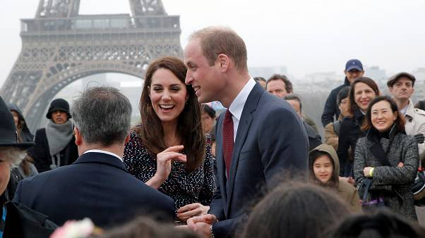 William and Kate hear stories of sport and survival in Paris