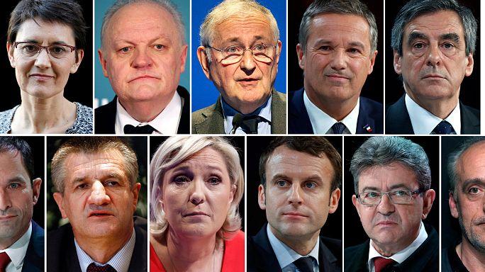Once candidatos en las presidenciales francesas