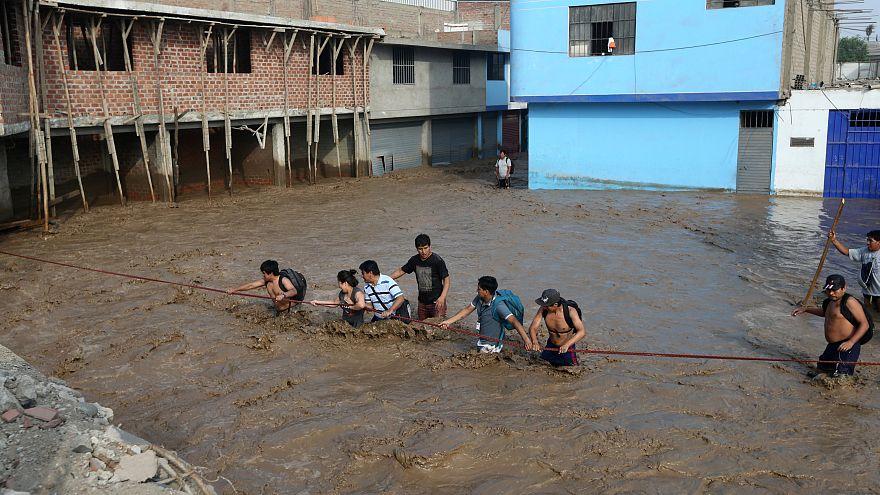 Perú: Chuvas torrenciais fizeram já mais de 62 mortos