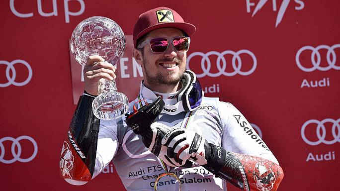 Hirscher hold-up in Aspen as he skins Neureuther to win