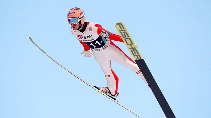 قفزة تزلجية لمسافة 253 مترا