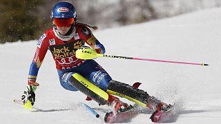 اسکی آلپاین: جشن قهرمانی میکائیلا شیفرین بدون کسب هشتمین پیروزی