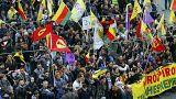 Kurdok tüntettek Erdogan ellen Frankfurtban