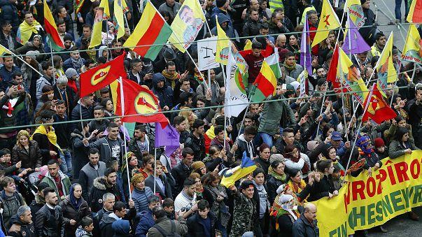 German Kurds stage anti-Erdogan protest in Frankfurt