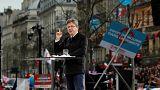 Demostración de fuerza del candidato neocomunista francés Jean-Luc Mélenchon