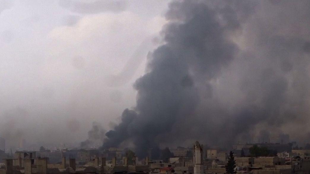 El ejército sirio responde con intensos bombardeos a la ofensiva rebelde en Damasco