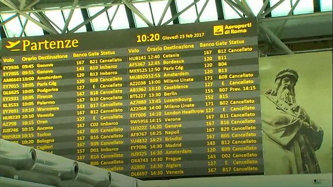 Italia encara una nueva jornada de huelga en sus aeropuertos