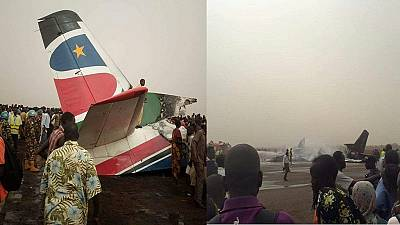 Plane crashes at South Sudan airport, several people injured [Photos]