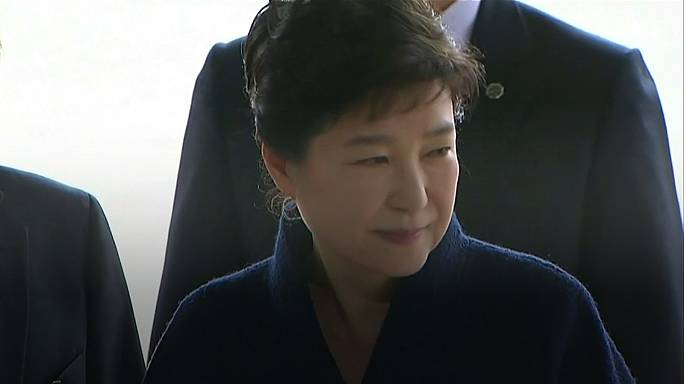 Ousted S.Korean president is questioned over bribery allegations