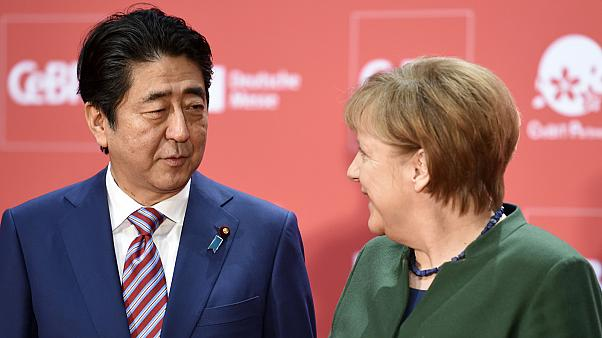 Merkel and Abe celebrate all things digital at CeBIT