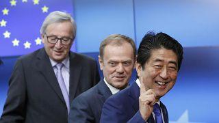 زيارة رسمية لرئيس وزراء اليابان الى المؤسسات الرسمية الأوروبية