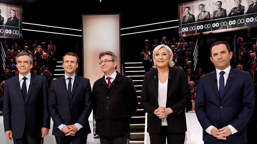 Francia: Macron y Mélenchon, los más convincentes en el primer debate de las presidenciales