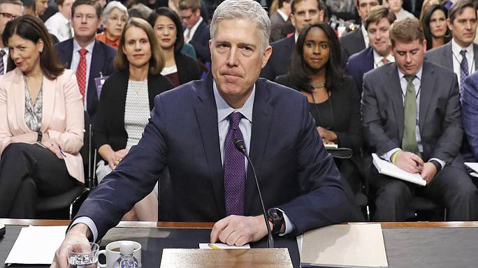 Trump's Supreme Court nominee pledges independence from the president